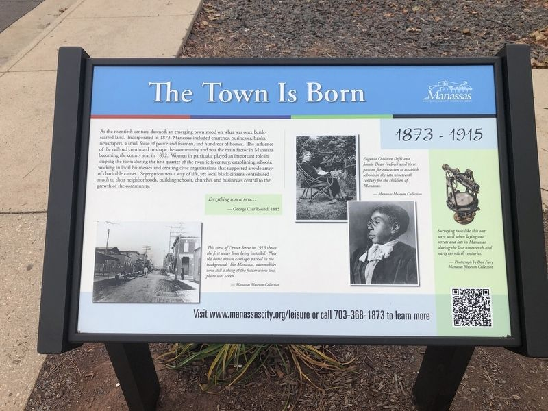 The Town Is Born Marker image. Click for full size.