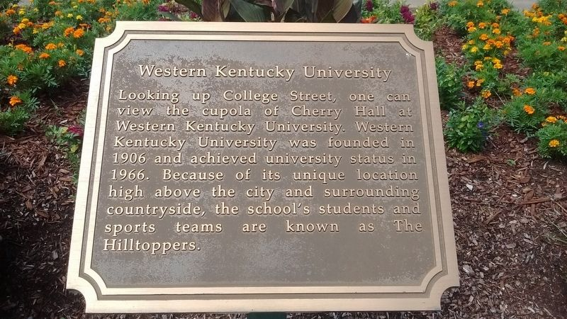 Western Kentucky University Marker image. Click for full size.