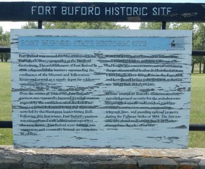 Fort Buford State Historic Site Marker image. Click for full size.