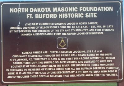 North Dakota Masonic Foundation Marker image. Click for full size.