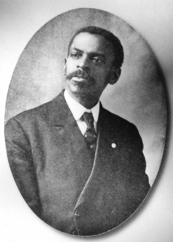 Marker detail: A.J. Oliver, first black lawyer in Roanoke image. Click for full size.