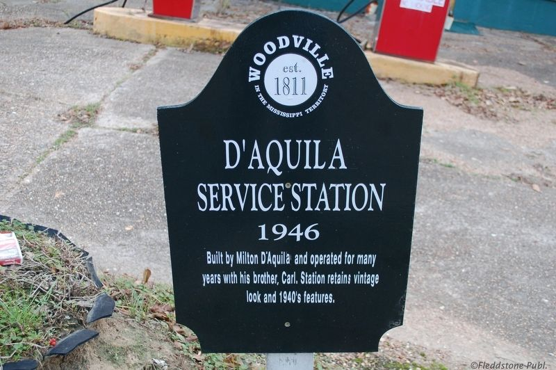 D'Aquila Service Station Marker image. Click for full size.