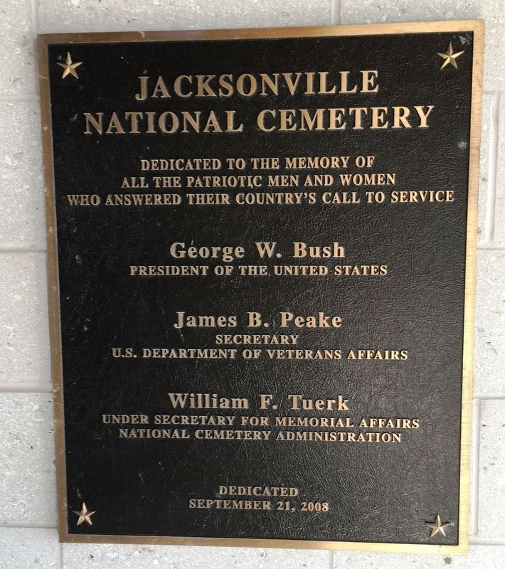 Jacksonville National Cemetery Marker image. Click for full size.