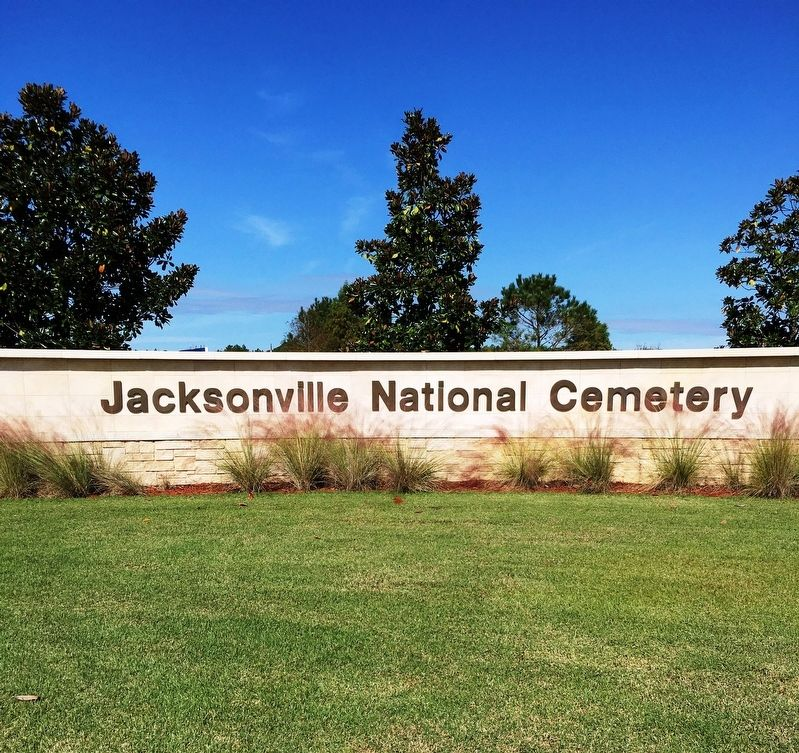 Jacksonville National Cemetery Entrance image. Click for full size.