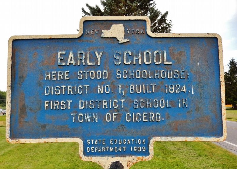 Early School Marker image. Click for full size.