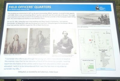 Field Officers' Quarters Marker image. Click for full size.