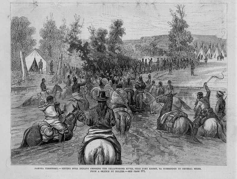 Dakota Territory -- Sitting Bull Indians image. Click for full size.