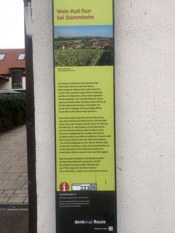Wein-Kult Tour bei Stammheim / Wine Cult-Tour in Stammheim Marker image. Click for full size.
