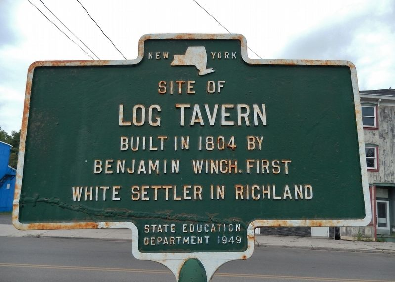 Site of Log Tavern Marker image. Click for full size.