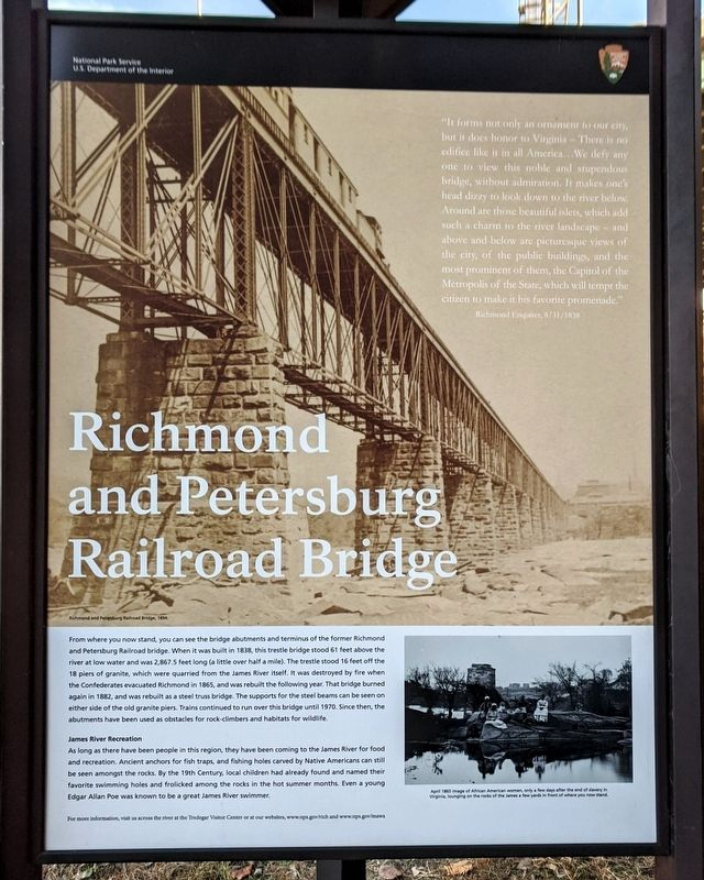 Richmond and Petersburg Railroad Bridge Marker image. Click for full size.