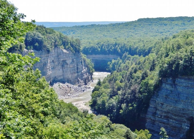 Genesee River Gorge (<i>view from marker</i>) image. Click for full size.