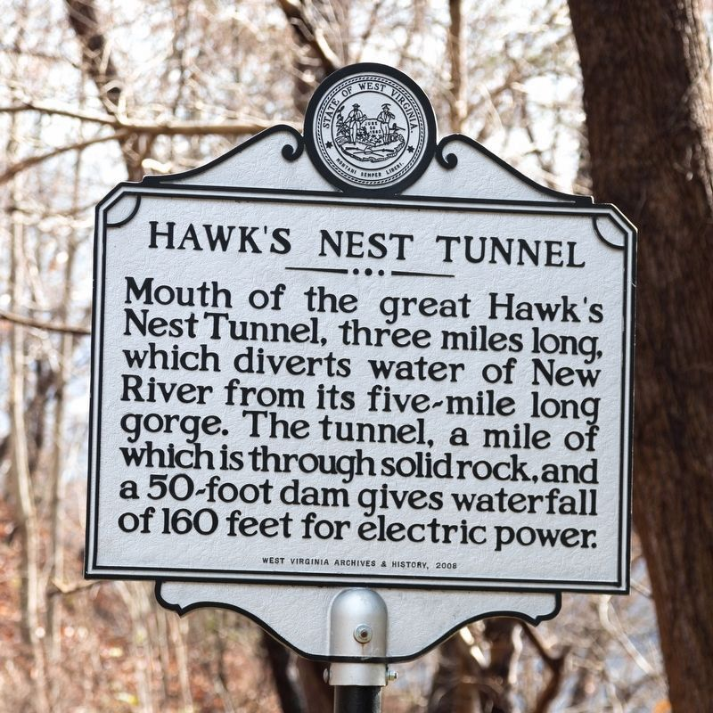 Hawk's Nest Tunnel Marker image. Click for full size.