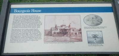 Bourgeois House Marker image. Click for full size.