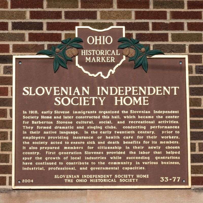 Slovenian Independent Society Home Marker image. Click for full size.
