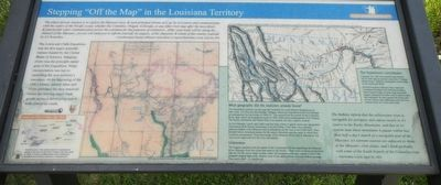 "Stepping ""Off the Map"" in the Louisiana Territory Marker image. Click for full size."