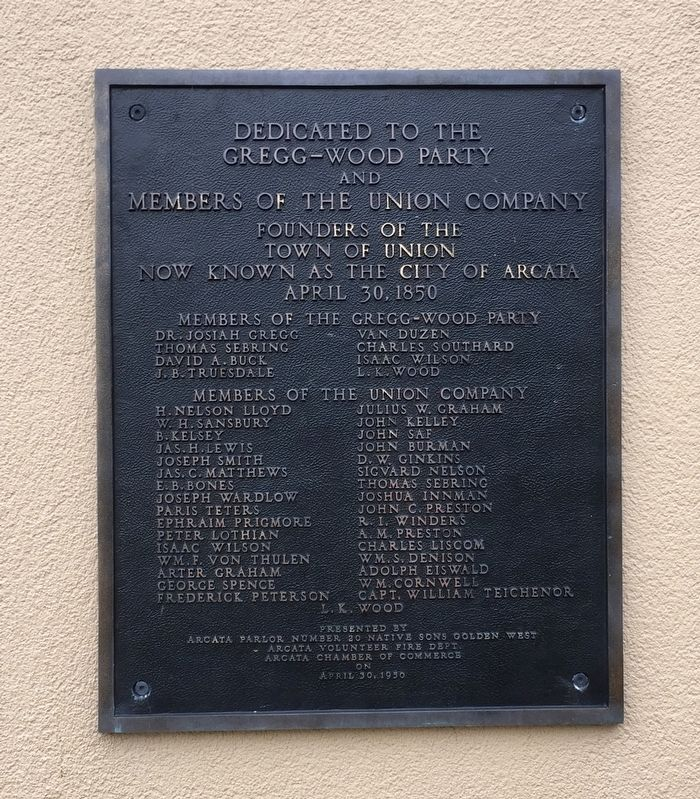 The Gregg-Wood Party and the Union Company Marker image. Click for full size.