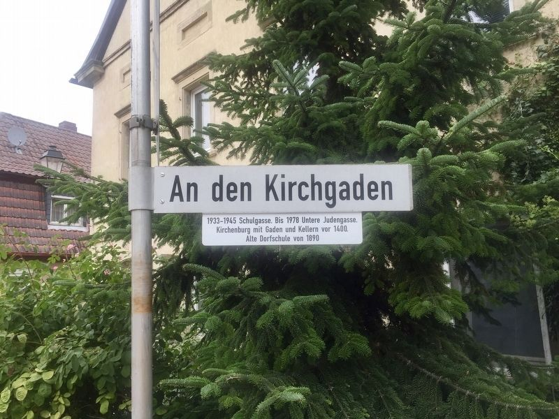"An den Kirchgaden / ""At the Church Hall"" Lane Marker image. Click for full size."