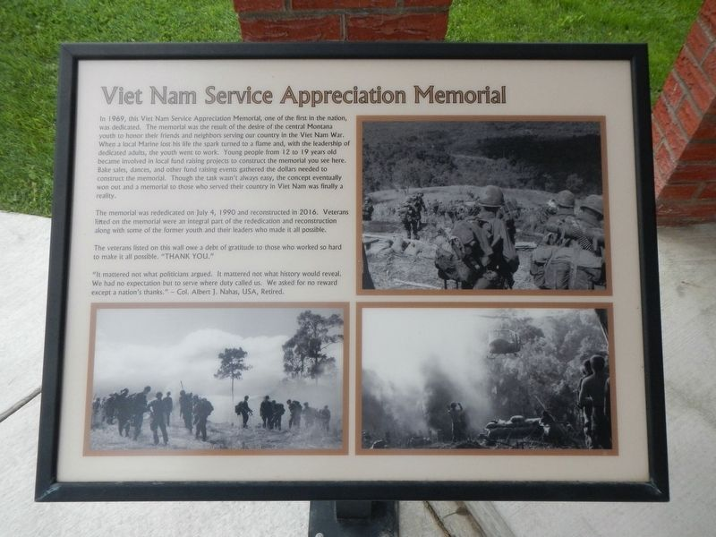 Viet Nam Service Appreciation Memorial image. Click for full size.