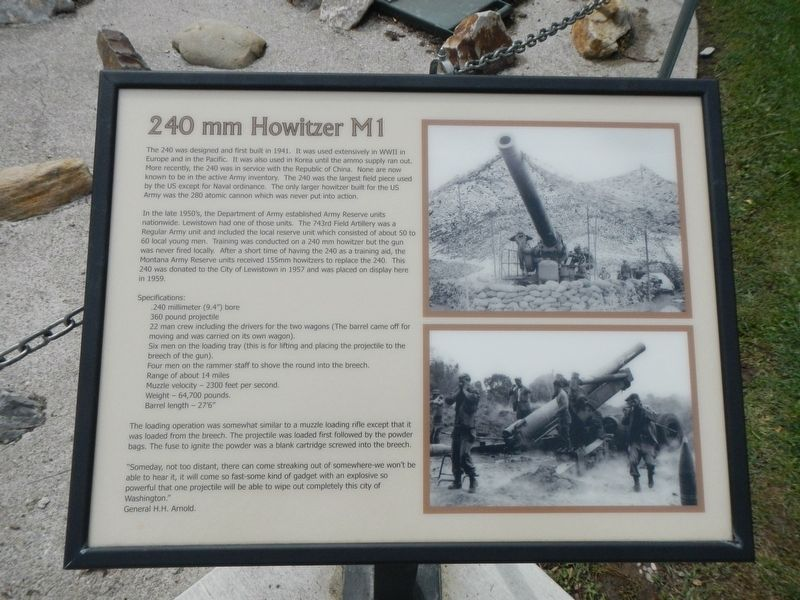 240 mm Howitzer M1 Marker image. Click for full size.