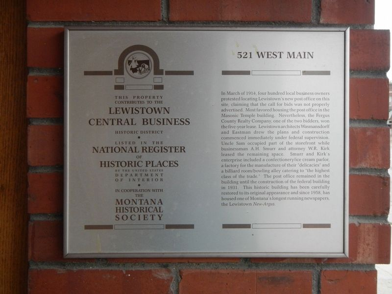 521 West Main Marker image. Click for full size.