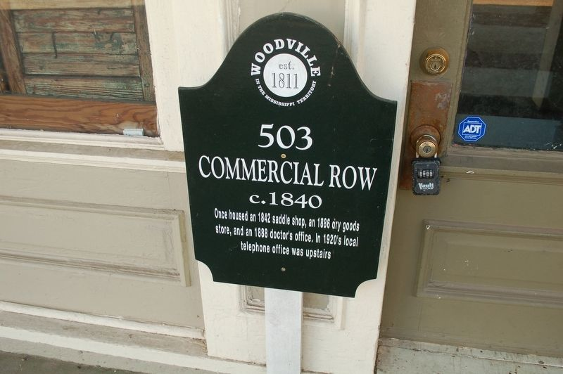 503 Commercial Row Marker image. Click for full size.