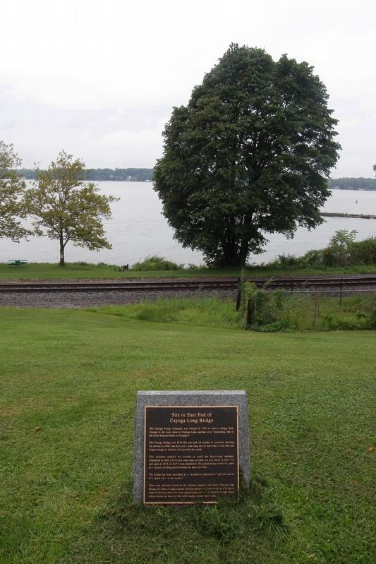Site of East End of the Cayuga Long Bridge Marker image. Click for full size.