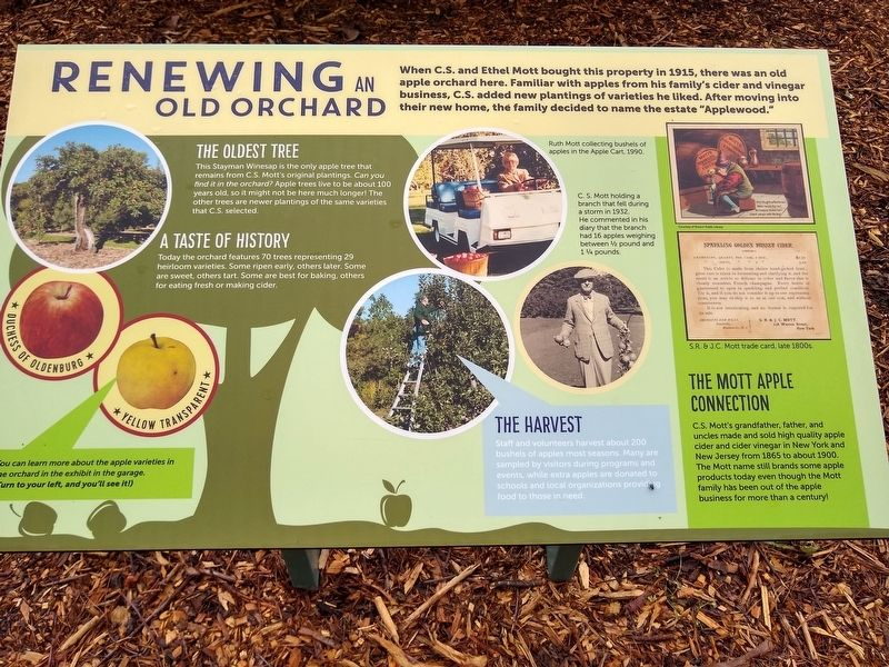 Renewing an Old Orchard Marker image. Click for full size.