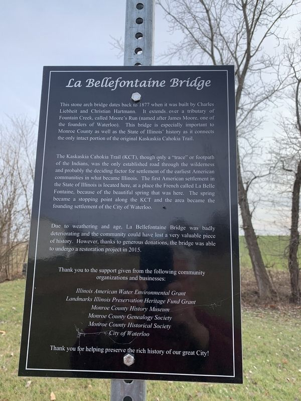 The Bellefontaine Bridge Marker image. Click for full size.