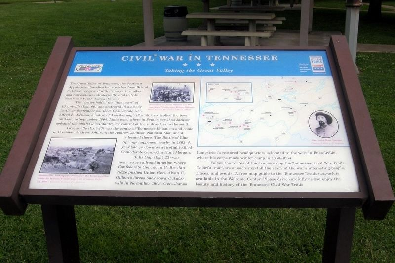 Civil War In Tennessee - Taking the Great Valley Marker image. Click for full size.