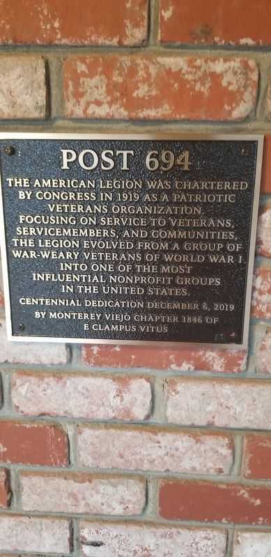 Post 694 Marker image. Click for full size.