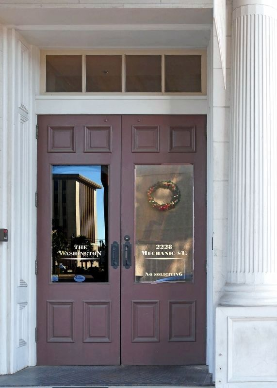 Door to the previous offices of the W.P. Ballinger Law Firm image. Click for full size.