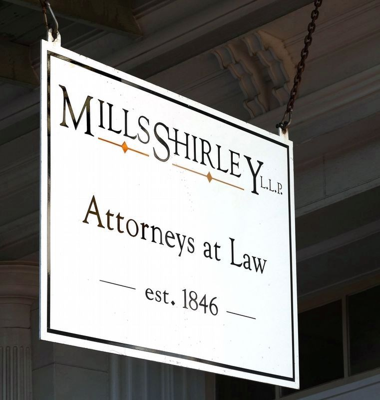 A nearby sign for the W.P. Ballinger Law Firm's descendants image. Click for full size.