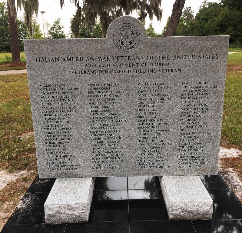 Italian American War Veterans Of The United States Marker image. Click for full size.