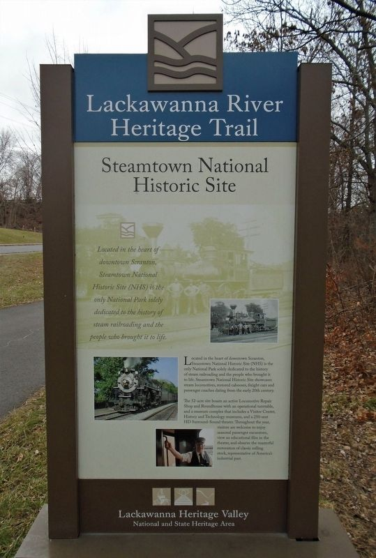 Steamtown National Historic Site Marker image. Click for full size.