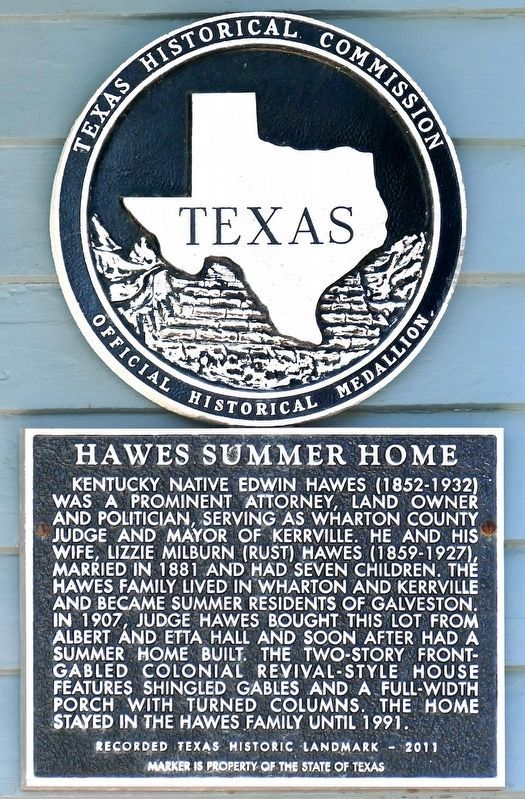 Hawes Summer Home Marker image. Click for full size.