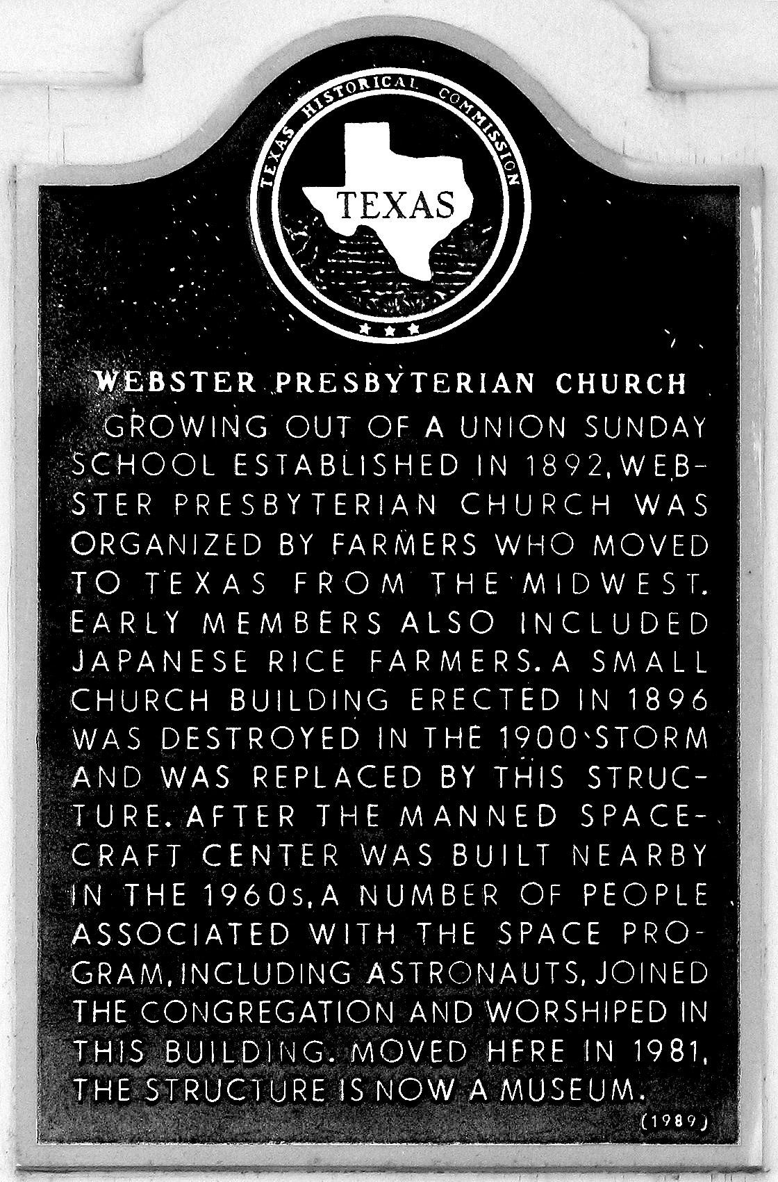 Webster Presbyterian Church Marker