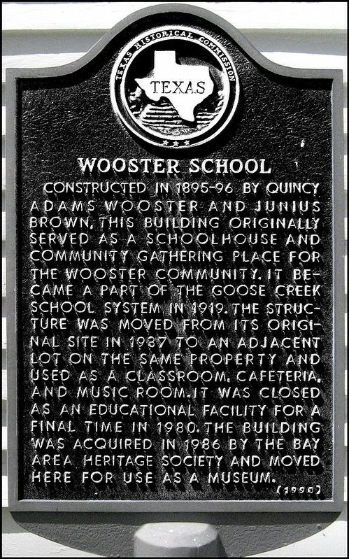 Wooster School Marker image. Click for full size.
