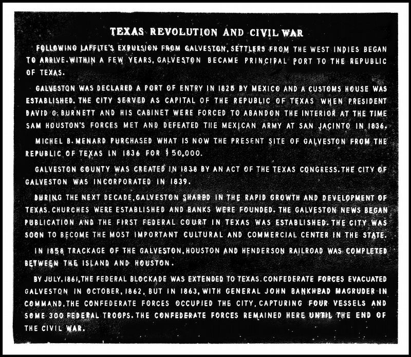 Texas Revolution and Civil War Marker image. Click for full size.
