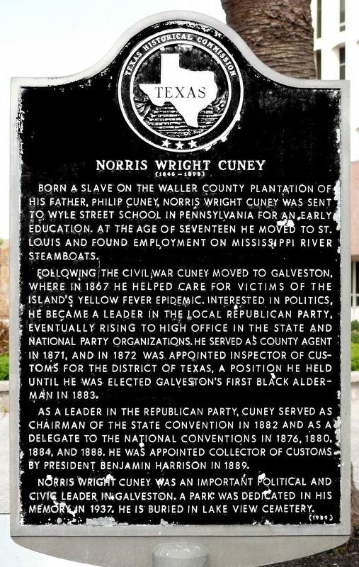 Norris Wright Cuney Marker image. Click for full size.