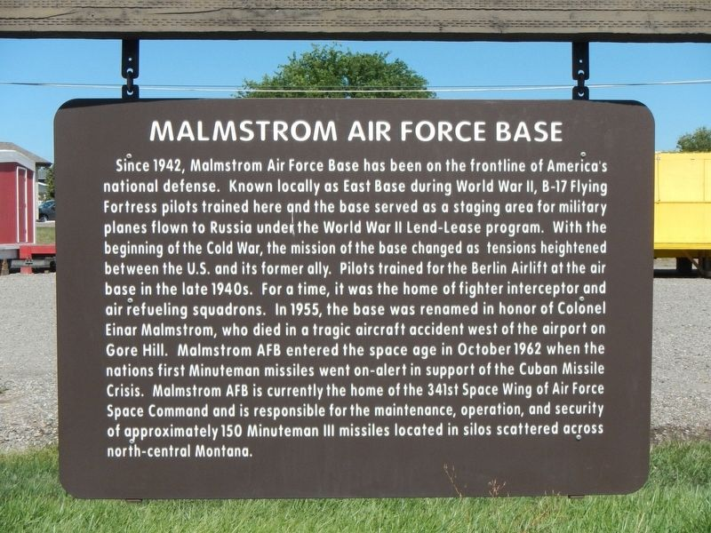 Malmstrom Air Force Base Marker image. Click for full size.