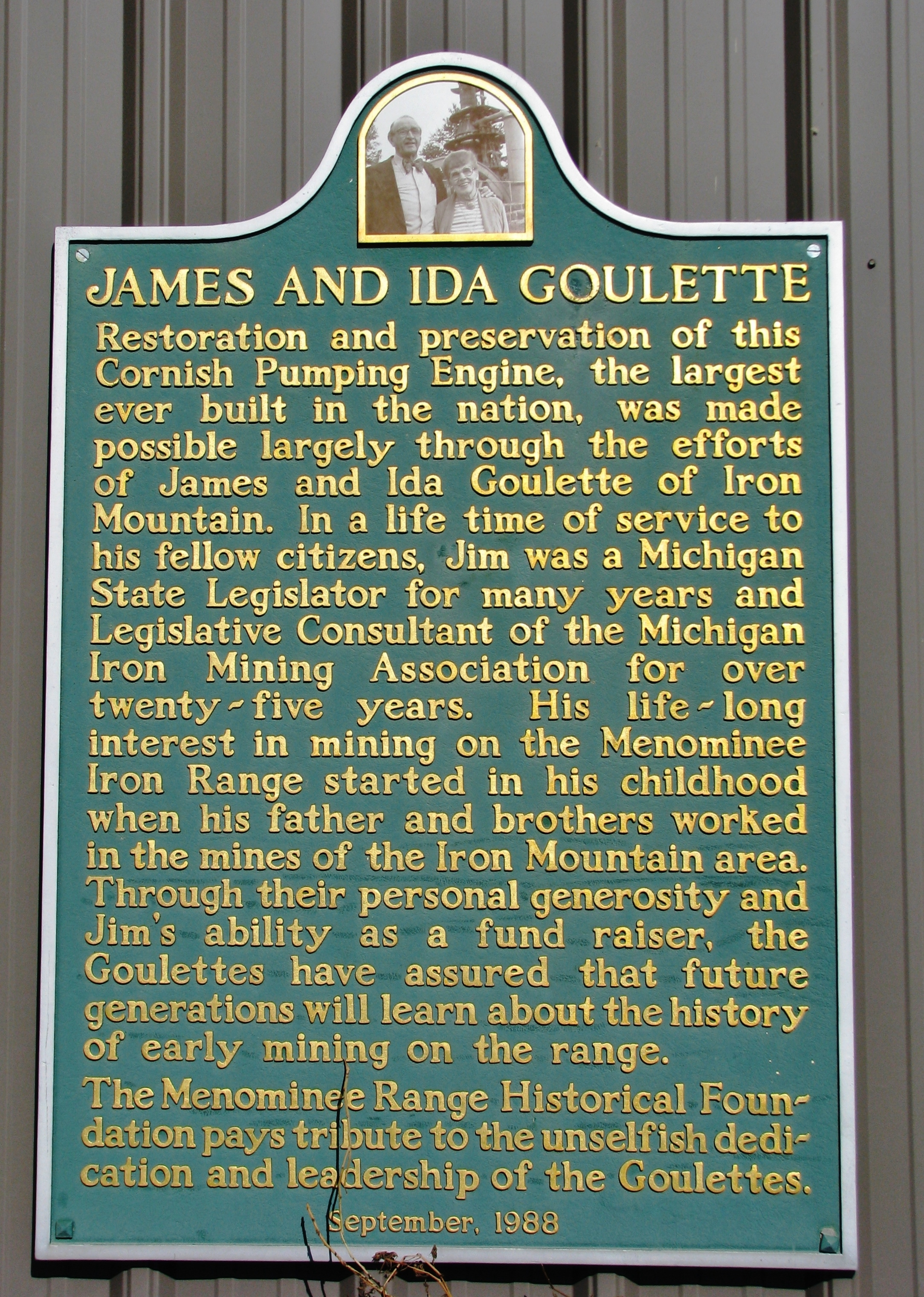 James and Ida Goulette Marker