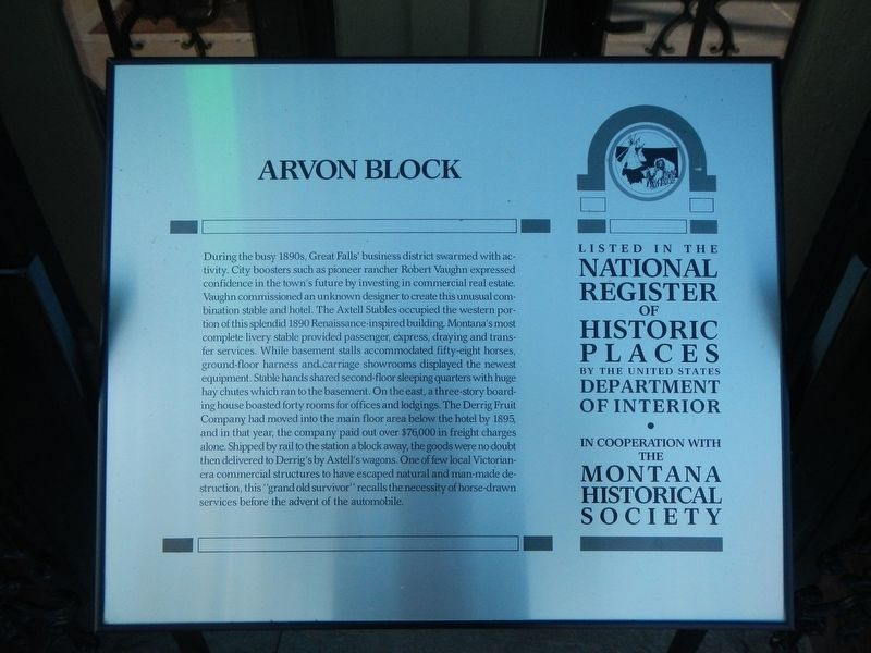 Arvon Block Marker image. Click for full size.