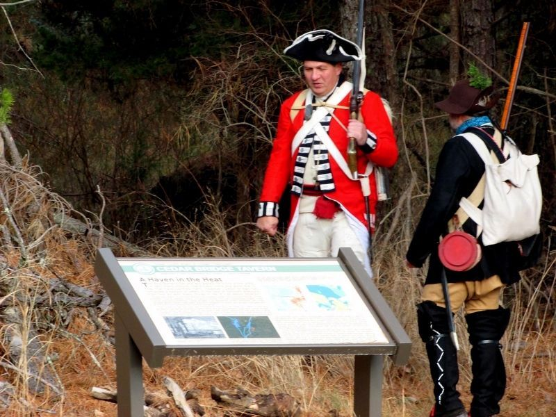Rev War Soldiers at the Marker image. Click for full size.