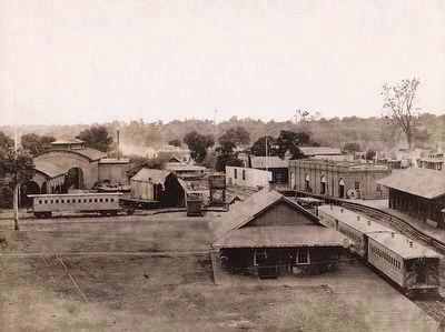 Folsom Rail Yard - looking west image. Click for full size.