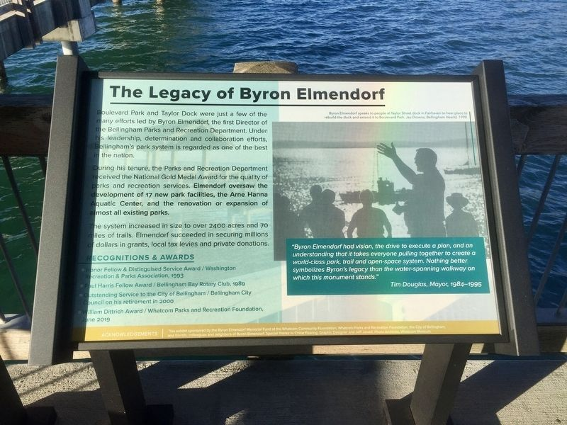 The Legacy of Byron Elmendorf Marker image. Click for full size.