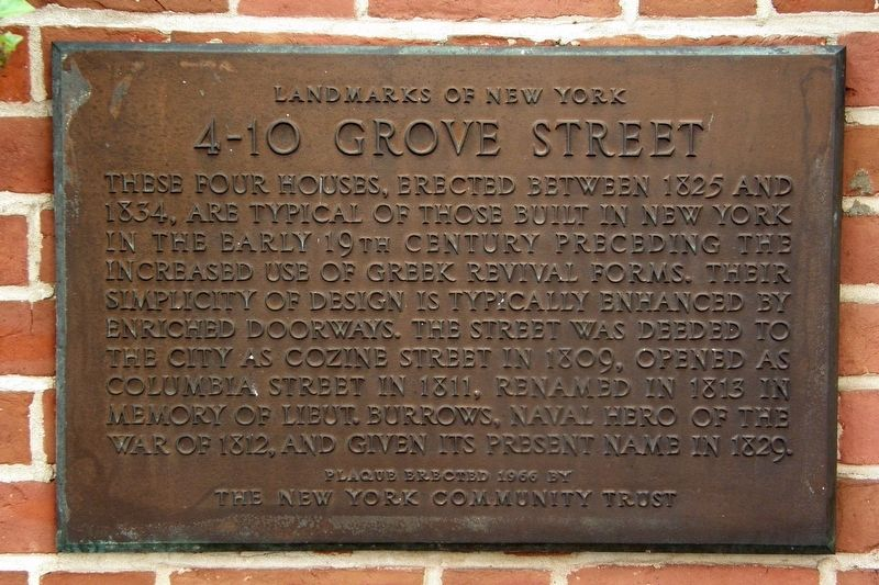 4-10 Grove Street Marker image. Click for full size.