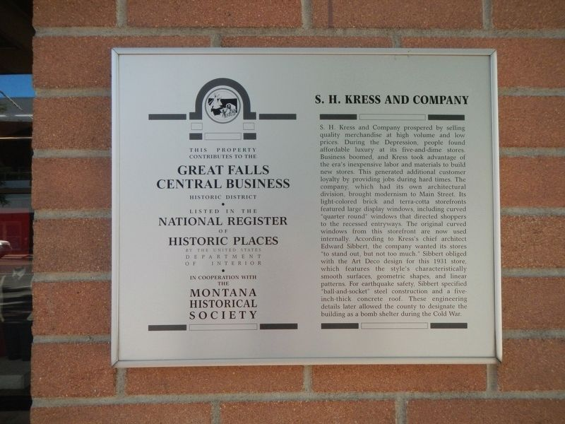 S.H. Kress and Company Marker image. Click for full size.