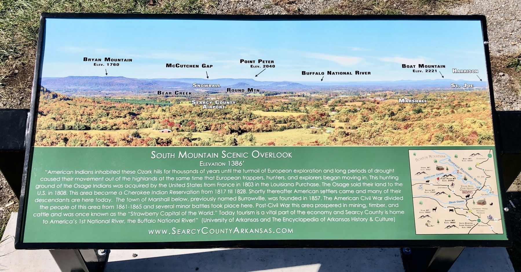 South Mountain Scenic Overlook Marker image. Click for full size.