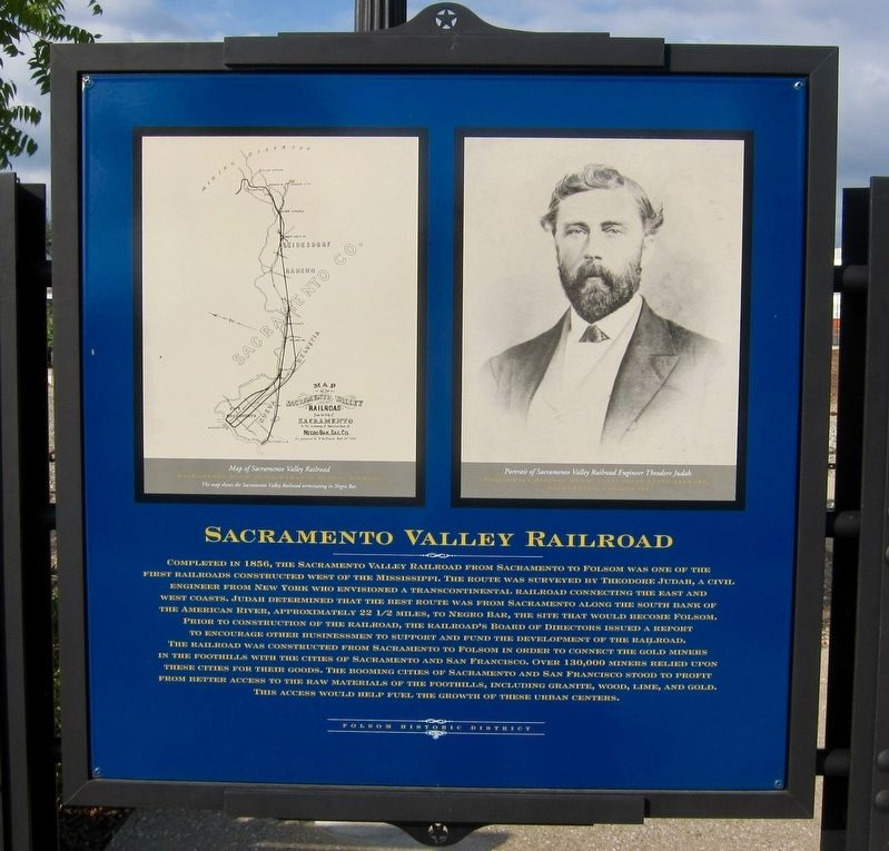 Sacramento Valley Railroad Marker image. Click for full size.