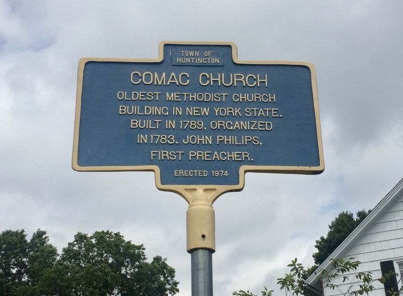 Comac Church Marker image. Click for full size.